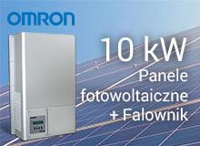 Elektrownia fotowoltaiczna o mocy 10kW (Panele fotowoltaiczne + Falownik Omron)