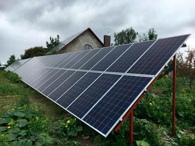 30 kW SPP dla sieci energetycznej dla taryfy gwarantowanej dla prywatnego domu, Pidlisky, obwód wołyński